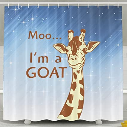 HUANGLING Moo Im A Goat Shower Curtain 60x72inch