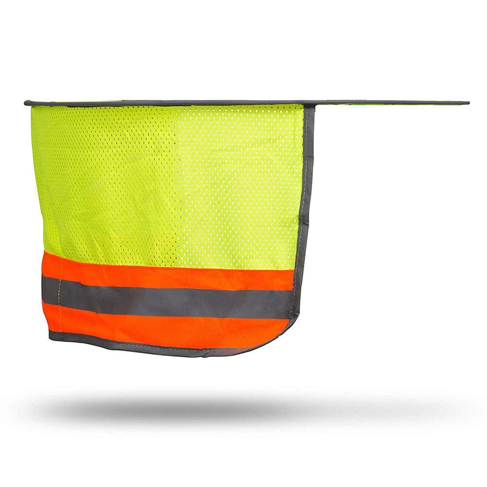 Creamon Casco Protector Solar Casco Protector Solar Protector de ala Completa Cuello de Malla Sombrillas Cascos r/ígidos Alta Visibilidad Cascos Reflectantes Amarillo Fluorescente