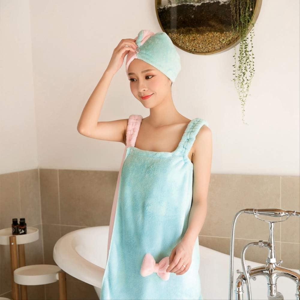 Vestido de Noche con Forro de Toalla de ba/ño para Mujer con adorables Accesorios para el Cabello s/úper seco de Secado r/ápido China A