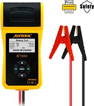 FOXWELL 12//24V Battery Load Tester Battery Analyzer Charging System with Printer