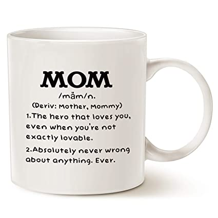 Image Unavailable  sc 1 st  Amazon.com & Amazon.com: MAUAG Motheru0027s Day Gifts Mom Definition Funny Coffee Mug ...