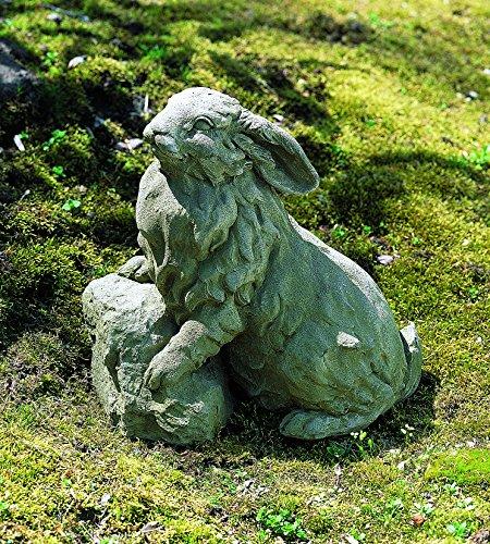 Campania International A-259-TR Rabbit on a Rock Statue, Travertine Finish (Travertine Rocks)