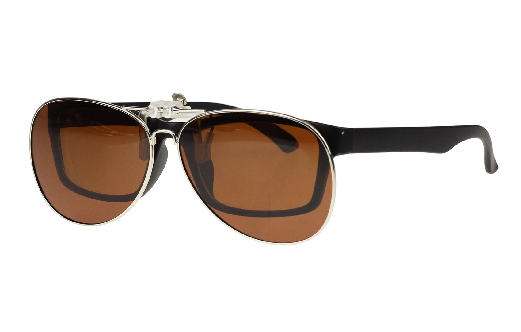 80ae13e5c48 Jaky Retro Polarized Lens Glasses Clip on Flip up High Grade Silicone Clip  Classic AVIATOR Reflective UV400 UV Protection Mens Womens Sunglasses For  Driving ...
