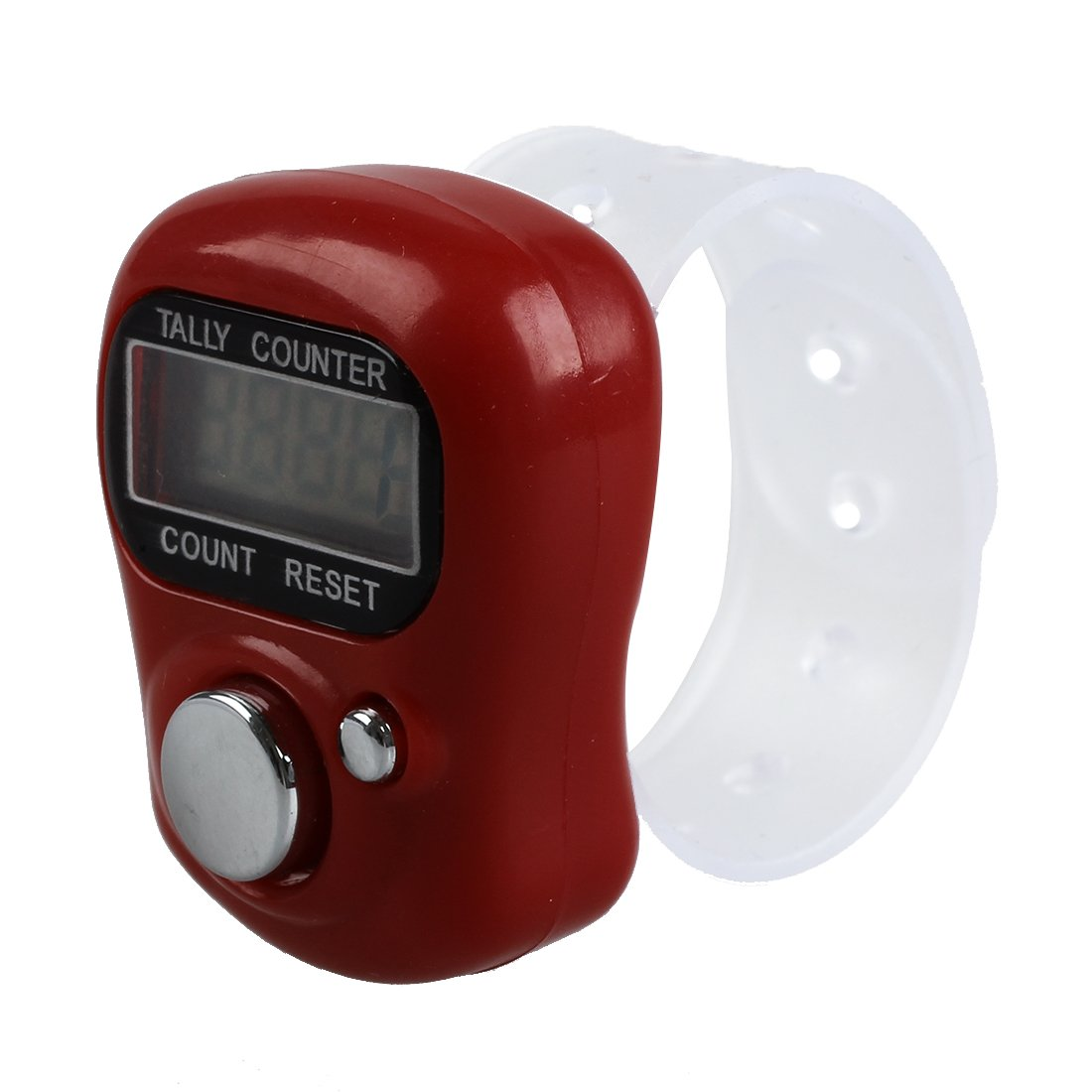 TOOGOO(R)Mini LCD Electronic Digital Display Finger Hand Tally Counter Counting -Red