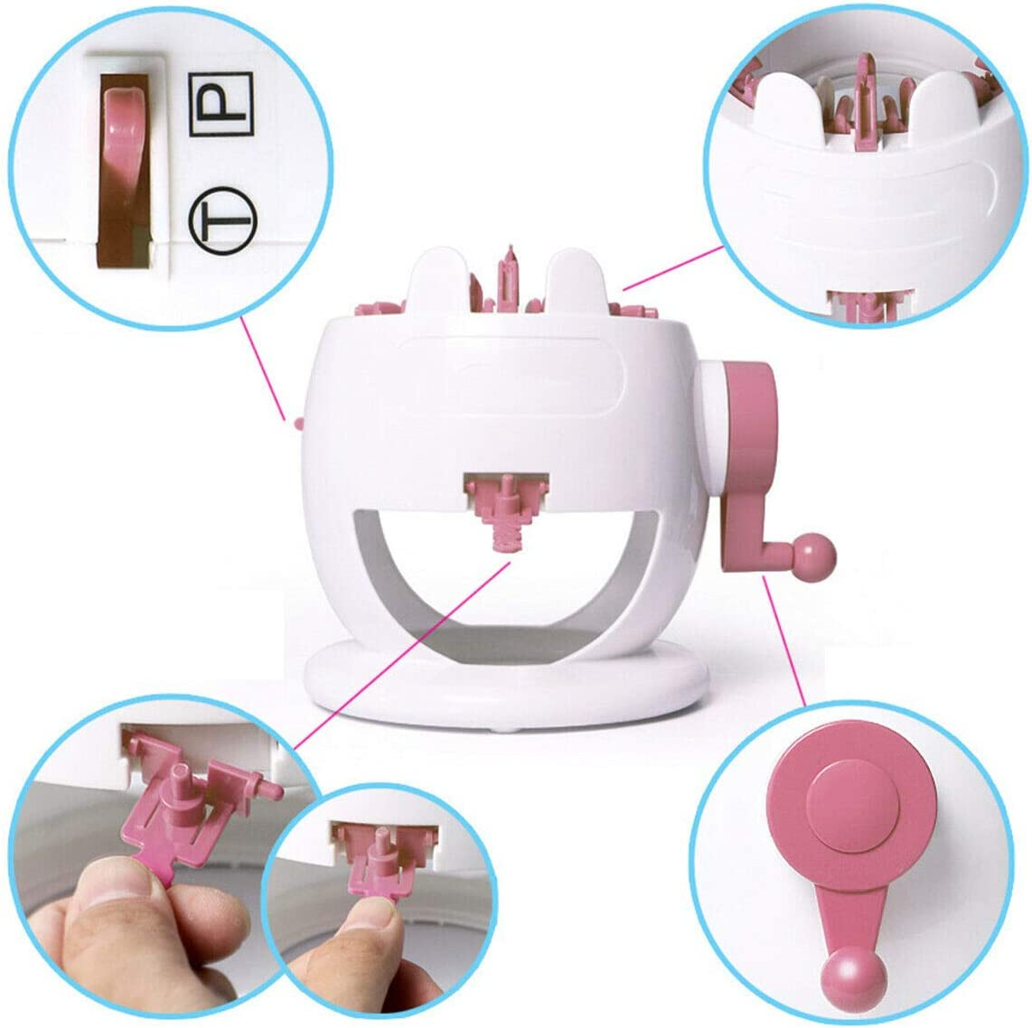 YOMENG Portable Needle Hand Knitting Machine Portable Smart Weaver Knitting Round Loom Educational Toys
