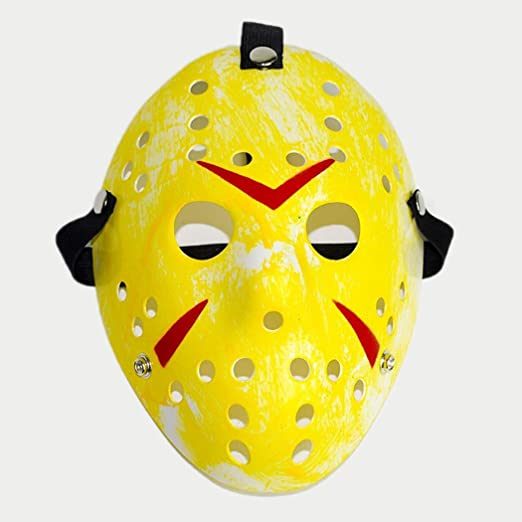 Halloween Costume Jason Friday 13th.Amazon Com Friday The 13th Horror Hockey Jason Vs Freddy Mask