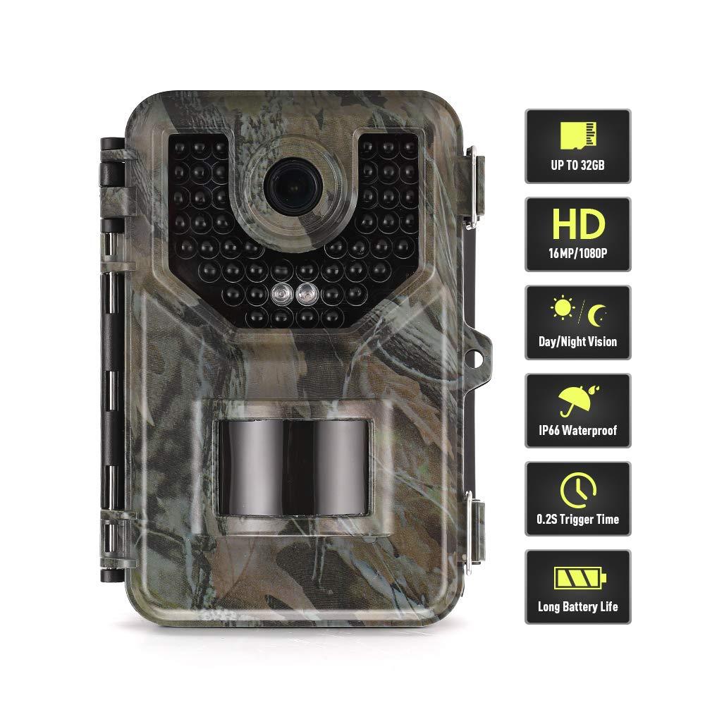 SUNTEKCAM C/ámara de Caza 20MP 1080P C/ámara de vigil/ància de la Vida Silvestre,C/ámara de Juego de detecci/ón Nocturna sin LED de Brillo de 940nm IR,Lapso de Tiempo,Temporizador,Dise/ño Impermeable IP65