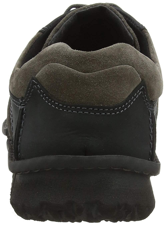 Josef Seibel Mens Herren Schnuerschuche in Black Leder Fashion Sneakers 41