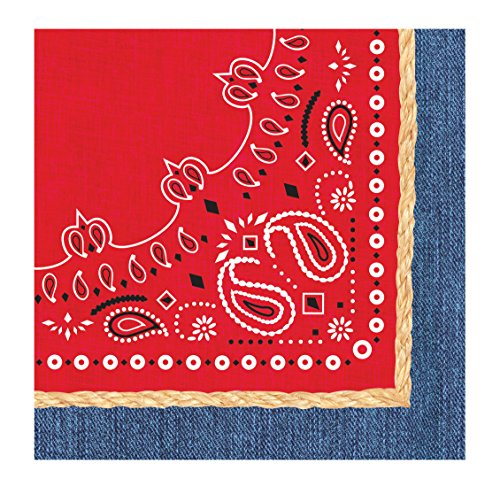 Creative Converting 667492 Napkins Tableware items, One Size, Red]()