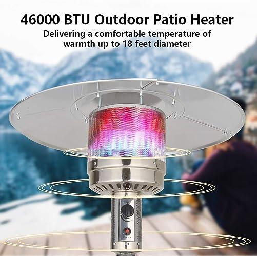 UPHA 46000 BTU Commercial Bronze Outdoor Patio Heater