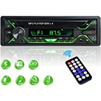 Aigoss Radio Coche Autoradio Bluetooth 1 DIN 60W