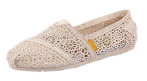 Alpargatas EOZY para mujer zapatos de punta zapatillas de ganchillo diseño de zapatillas de ciclismo 36: Amazon.es: Zapatos y complementos