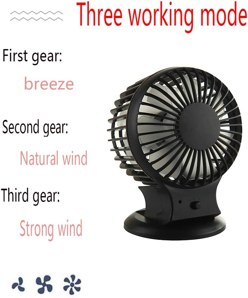 YANGYA Mini USB Desk Fan Handheld Table Desktop Portable Personal Rechargeable Dual Motor Fan for Home Office Camping Outdoor and Travel-Blue