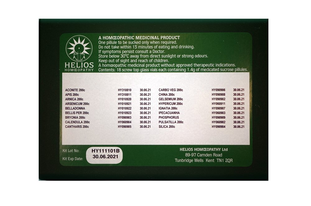 Homeopathic Accident and Emergency First Aid Kit by Helios