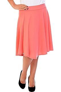 6c02b3bab0a863 Nouvelle Collection Damen Übergröße Rock Skater Frau Plus-Size Plain Skirt  Warm 5007