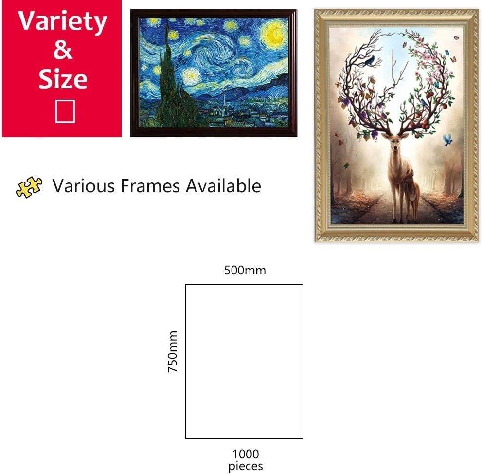Color : C GAOX One Piece Puzzle 1000 pi/èces de Bois for Adultes Puzzle Peinture d/écorative 1125