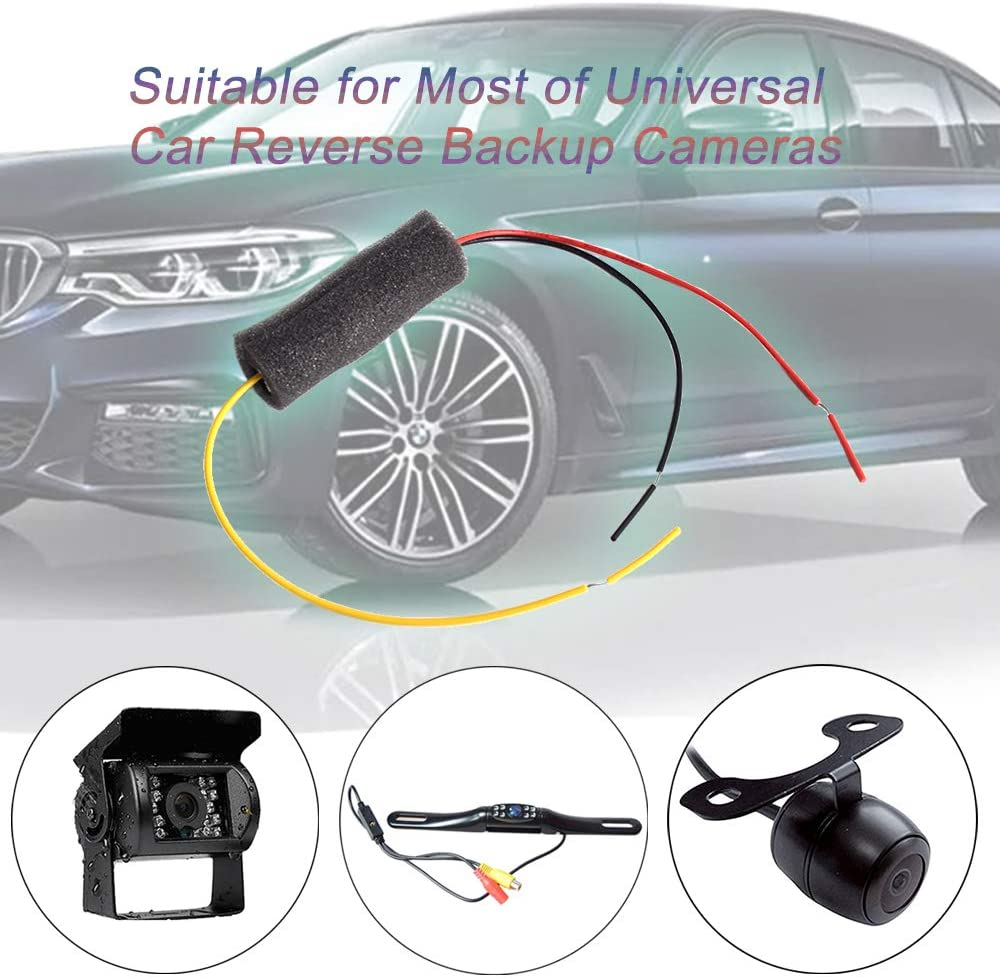 Car Backup Camera Filter Universal Camera Filter Rectifier for BMW Audi Benz VW Ford Mazda Auto 12V DC Power Rectifier for Reverse Camera Anti-Interference