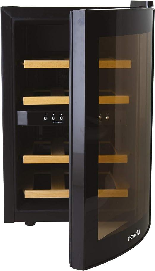 H.Koenig AGE12WV Vinoteca 12 Botellas, 34 litros, 40 Decibelios ...