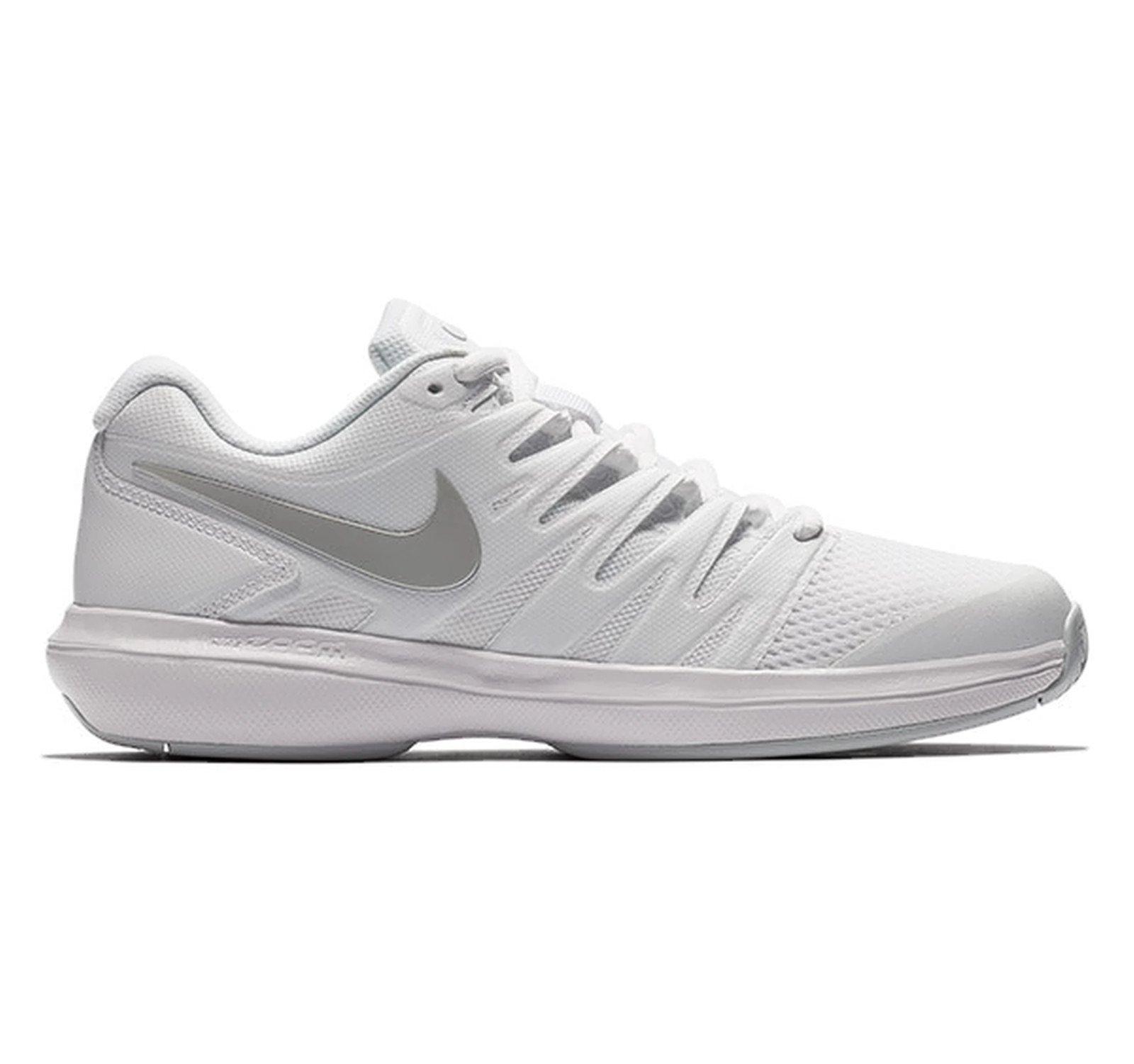 6cd3dae7f286 Galleon - Nike Women s Air Zoom Prestige Tennis Shoe White Metallic  Silver Pure Platinum Size 7.5 M US
