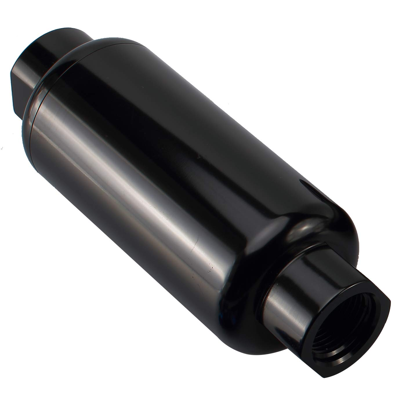 Brake Line Lock Shut Off Valve 1//8 NPT Billet Aluminium Fuel Flow Control Cut Off Valve Black Anodized