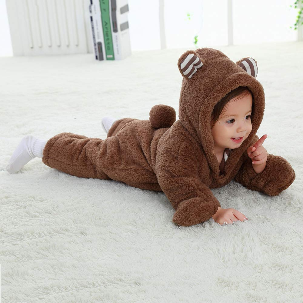 mikistory Infant Romper Newborn Unisex Costume for Baby Newborn Outfit Hoodie Winter Baby Outfits Bodysuits /…