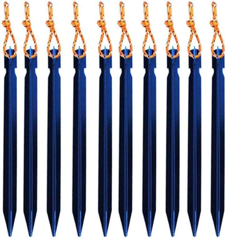 Ogquaton /Accessoires de Sport 10pcs 18cm en Alliage daluminium /à Usage intensif pour Tente de Camping en Plein air Clous de Haute qualit/é piquets