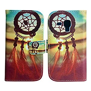 Samsung Galaxy S Duos S7562 PU LEATHER DREAM-CATCHER REAL picture design flip Stand case móvil casos bumper Flip bag Cover protección thematys®