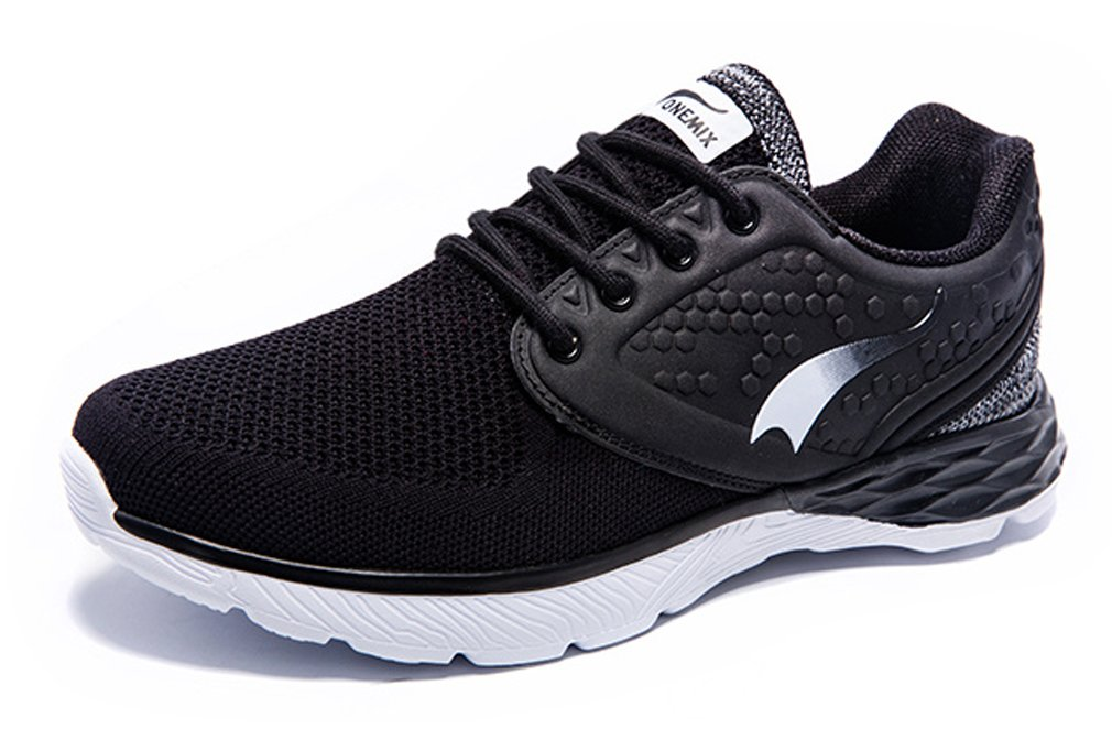 ONEMIX Zapatillas de Running de Competición de Material Sintético Hombre 42.5 EU|Negro/Blanco