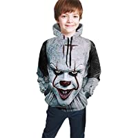 Sudadera con Capucha niño Kid's/Youth Plus Velvet Hoodies It Chap-TER Penny-Wise Children's 3D Print Winter Hooded…