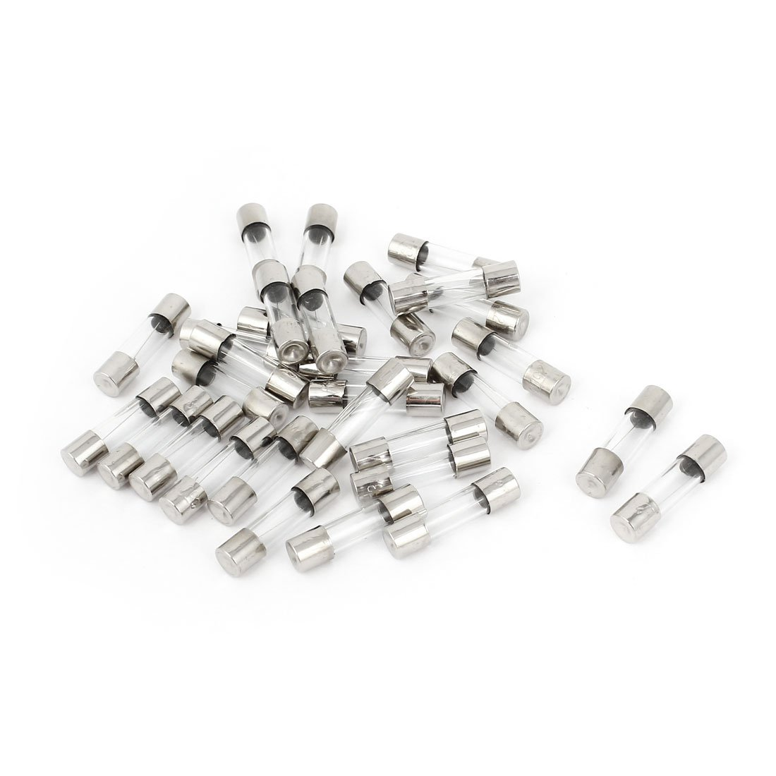 //® 30/piezas 5/mmx20/mm F3AL250/V R/ápido Golpe R/ápido Cartucho Fusible De Cristal 250/V 3/A Sourcingmap/