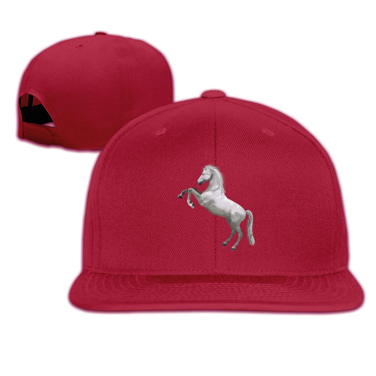Flying Horse Flat Brim Baseball Cap Adjustable Snapback Trucker Hat Caps Hip Hop Hat
