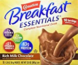 Carnation Instant Breakfast Essentials, Rich Milk Chocolate, 10-Count Packets (Pack of 3)