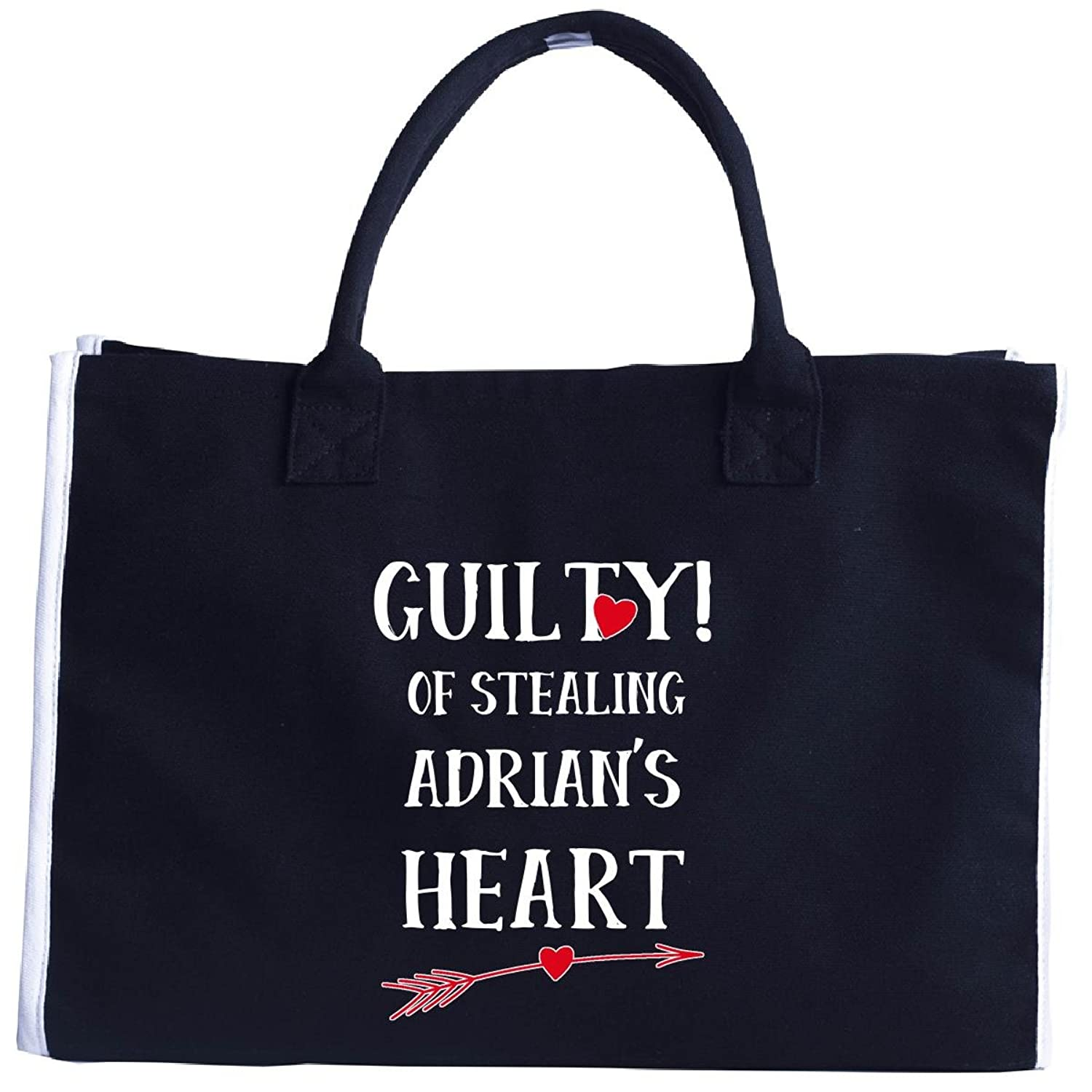 Guilty Of Stealing Adrian's Heart Funny Valentines Day - Tote Bag