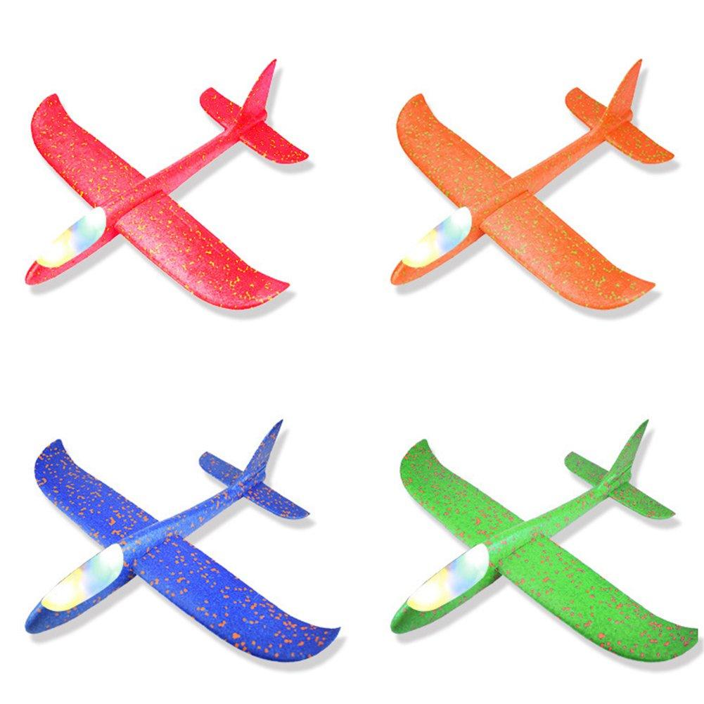 XuBa Wurfgleiter, Schaumstoff, 49 x 48 cm, fü r Flugzeuge, Flugzeuge, Mini-Flugzeug, zufä llige Farbe, Geburtstag, Halloween, Weihnachten, Party-Geschenk