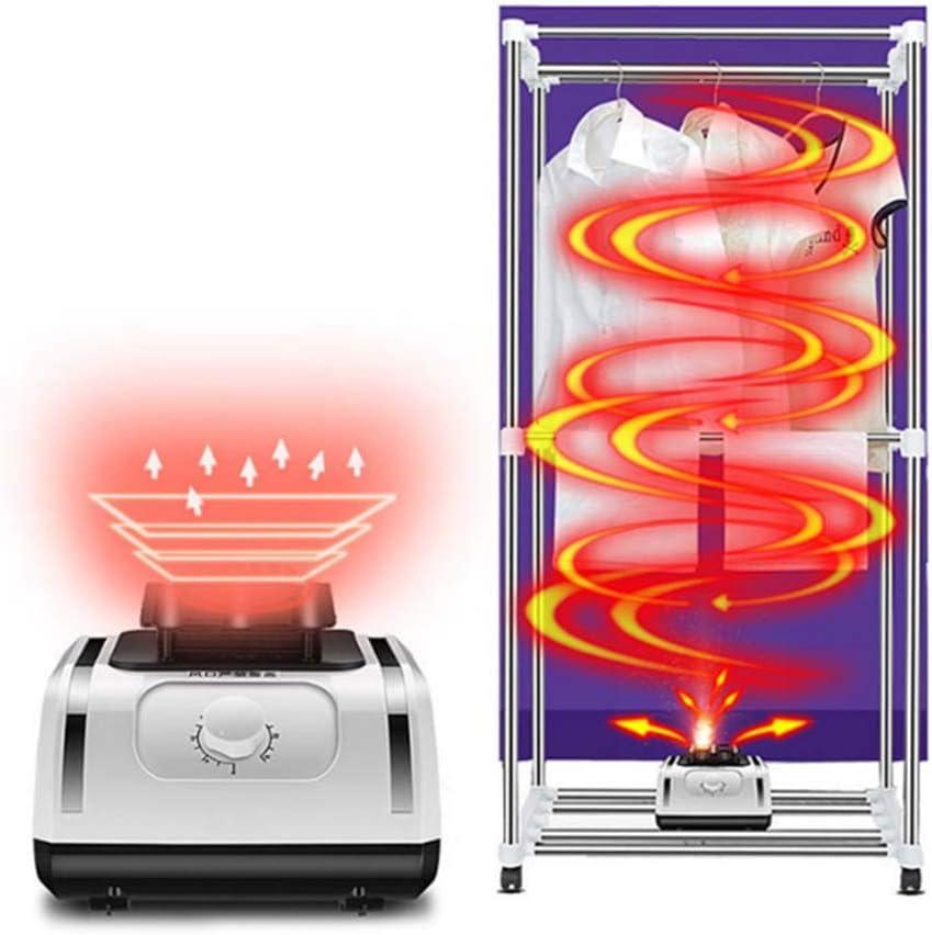 GJDU Secadora de Ropa eléctrica, Secadora de Ropa de Calentamiento de Ciclo de 360 °, 1500w de Gran Capacidad 15 kg de Carga máxima Secadora de Ropa Interior de bajo Consumo eléctrico