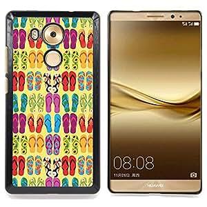 - Flops Summer Sun Beach Fashion Design/ Duro Snap en el tel????fono celular de la cubierta - Cao - For Huawei Mate 8
