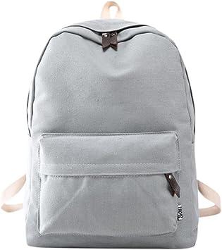 mochilas escolares juveniles niña Switchali Lona bolsas escolares moda Pijo Mochila escolares niño mochilas mujer casual Mochila bolsas deporte viaje - baratas (Gris): Amazon.es: Equipaje