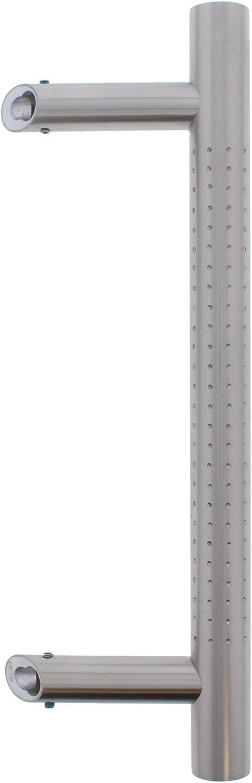 ToniTec T/ürgriff Sto/ßgriff schr/äg 45/° Edelstahl mit gefr/ästen Punkten SYS1 Griffl/änge:500mm