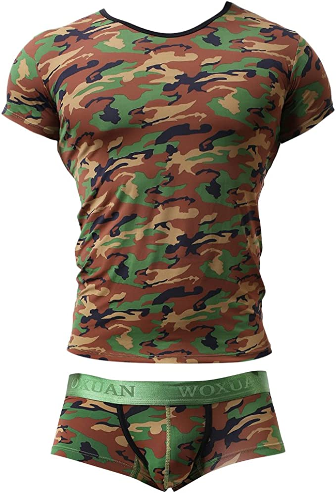 D DOLITY Set de Camisa con Calzoncillos Hombre Ropa Suave Cómodo Macho Deportiva Regalo - Verde, Única: Amazon.es: Ropa y accesorios