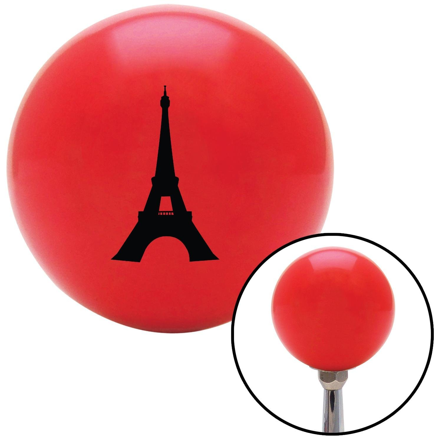 Black The Eiffel Tower American Shifter 94033 Red Shift Knob with M16 x 1.5 Insert