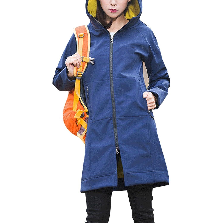 Zhhmeiruian Womens Outdoor Soft Shell Waterproof Hooded Windbreaker Coat Jacket