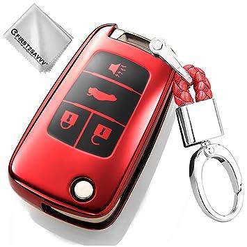 Rojo Funda para Llave Smart Key para Coche Chevrolet Equinox ...