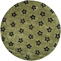 Safavieh Soho Collection SOH720A Handmade Sage and Black Premium Wool Round Area Rug (6 Diameter)
