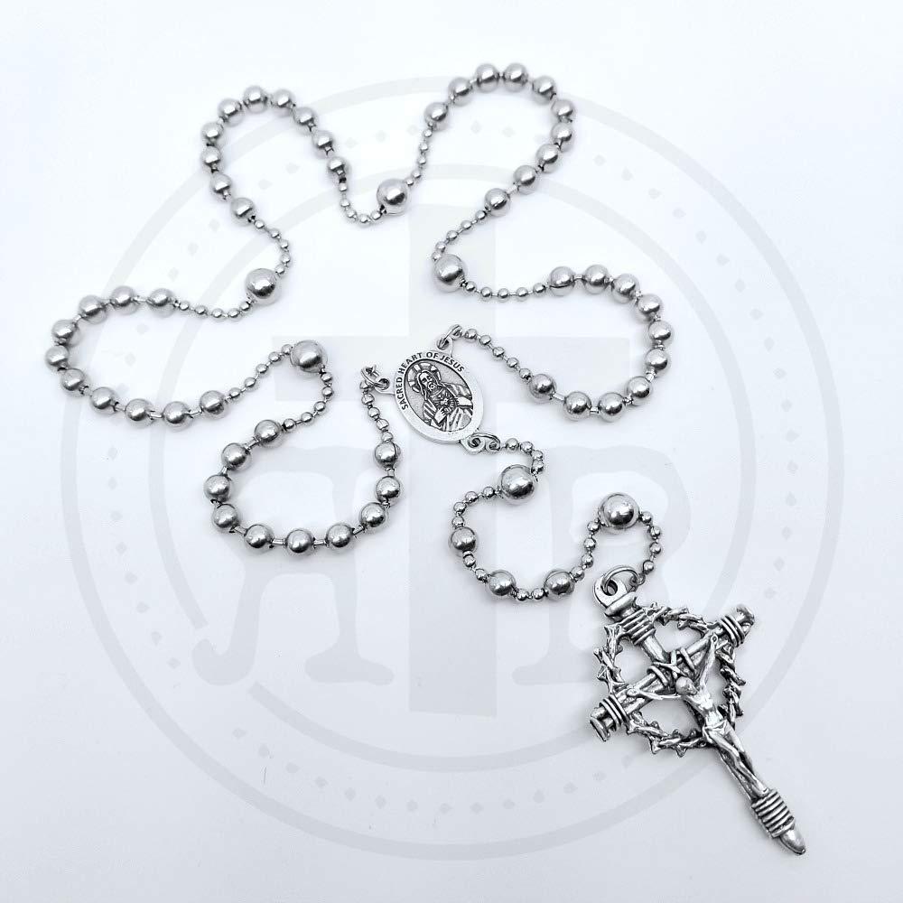 WWI Battle Beads - Crown of Thorns Rosary | Historical Replica Service Combat Rosary