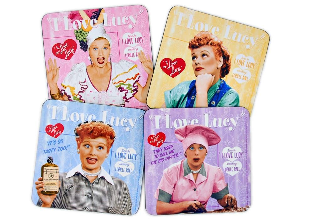 I Love Lucy Cork-Backed Coasters Set of 4