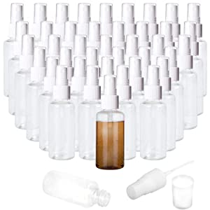 40 PCS 1oz Clear Plastic Mist Spray Bottle,Transparent Travel Bottle,Portable 30ml Refillable Spray Sprayer Bottle for Travel, Cleaning, Essential Oils
