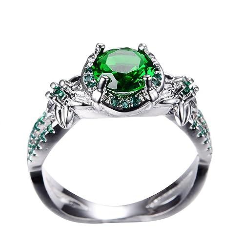 junxin caliente 10 KT chapado en oro anillo, mujeres y Hombre Boda Compromiso Promesa Anillos