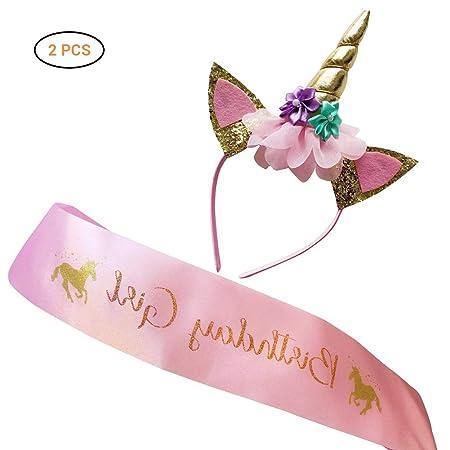 Hihey - Set de decoración de cumpleaños, diseño de Unicornio ...