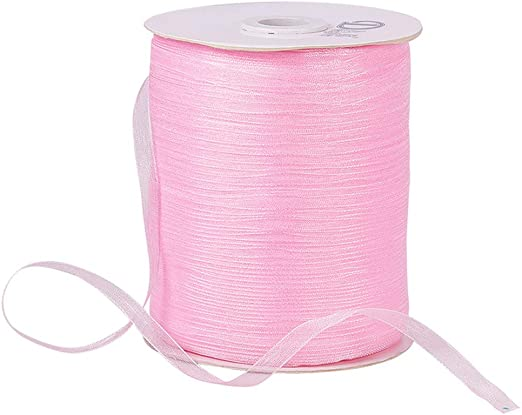 Sheer ORGANZA RIBBON 10mm Solid Colours Transparent Garment Trim Craft Wrapping