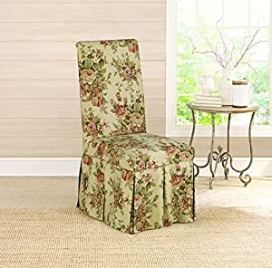dining room chair slipcovers floral design | Amazon.com: Sure Fit Bridgewater Floral - Dining Room ...
